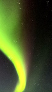Photograph of the northern lights